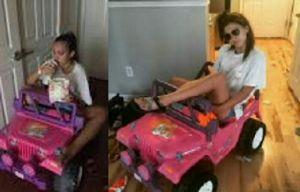 Ada-ada Saja, SIM-nya Dicabut, Mahasiswi Ini Naik Mobil Mainan ke Kampus