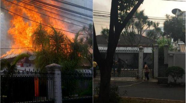 Rumah Japto Ketua Pemuda Pancasila di Solo Terbakar