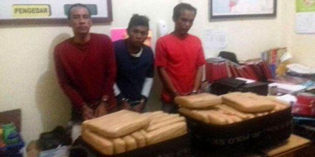 Bawa 35 Kilo Ganja saat Arus Balik Lebaran, 2 Pria Ini Terkapar Ditembak Polisi