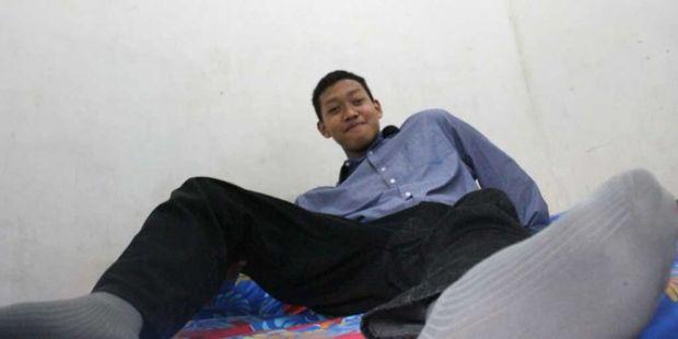 Yafi, Remaja Asal Malang yang Punya Tinggi 2 Meter Lebih