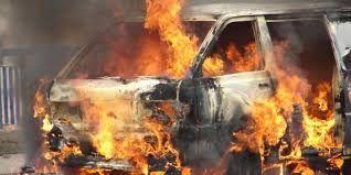 Sedang Nyetir, Mobil Ketua PWI Cianjur Tiba-tiba Terbakar