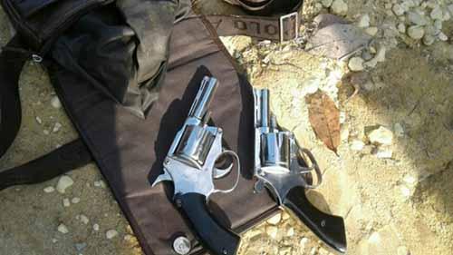 Polisi Lumpuhkan Anto Palembang, Perampok yang Beraksi di Wilayah Inhu, Dua Pucuk Senjata Api Jenis Revolver Disita