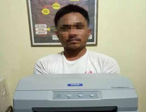 Modus Mengecat Kantor, Sincan Malah Jarah Printer dan CPU Milik KUA Kecamatan Limapiluh Pekanbaru