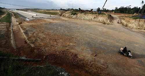 Pembebasan Lahan Tol Pekanbaru-Dumai Mencapai 70 Persen