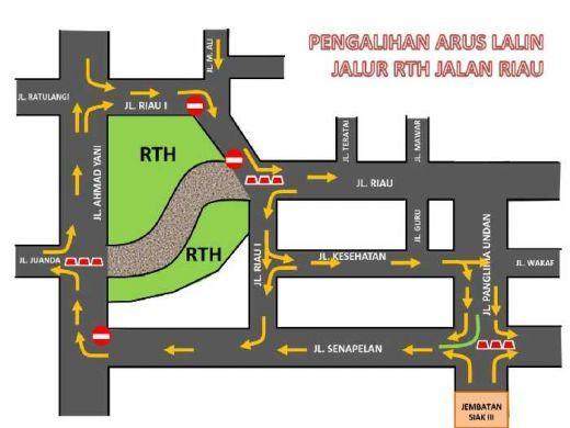 Mulai Besok, Jalan Riau Pekanbaru Diberlakukan Satu Arah, Ini Rutenya