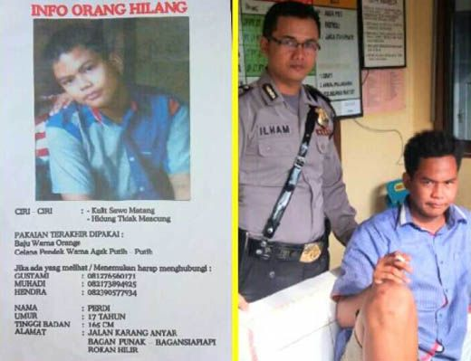 Empat Hari Hilang, Remaja 17 Tahun Warga Jalan Karang Anyar Bagansiapiapi Ditemukan Polisi di Dumai