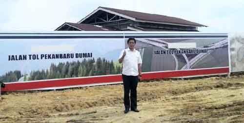 Orang Kepercayaan Presiden Jokowi Datang ke Riau, Himpun Informasi Kendala Pembangunan Tol Pekanbaru-Dumai