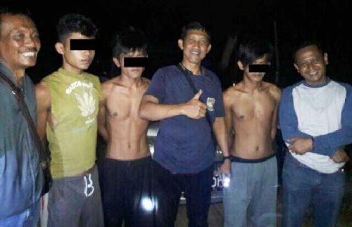 Pelarian Tahanan Polsek Kampar Kiri Hilir Berakhir, 3 Dibekuk dari Tempat Persembunyian di Desa Karya Indah, Seorang Masih Buron