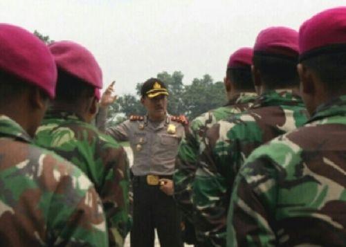 Marinir Ditempatkan di Lokasi PT National Sago Prima