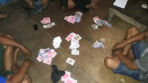 Asyik Main Judi Song, Empat Pemuda Digerebek Polisi di Km 7 Pangkalankerinci