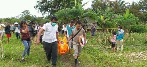 Wanita yang Ditemukan Tewas Dibungkus Karung di Ladang Jagung Jalan Kadiran Tenayanraya Pekanbaru Diduga Dibunuh