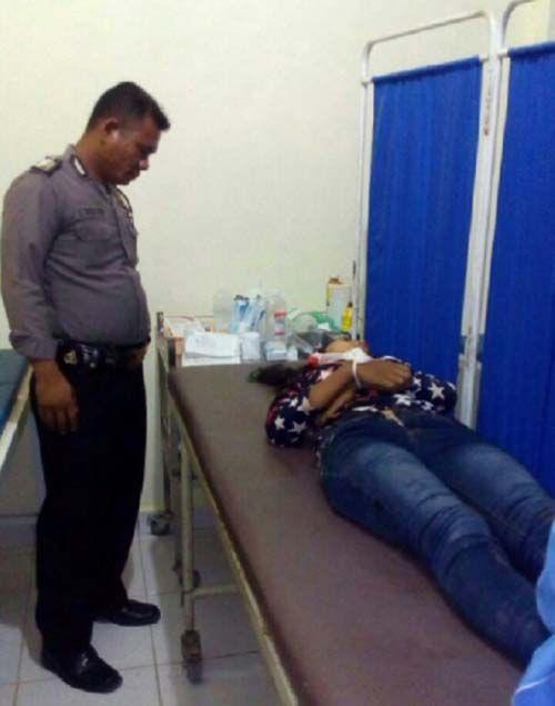 Pengendara Motor Siswi SMA Negeri Rakitkulim Tewas setelah Terpental ke Aspal di Jalan Lintas Selatan Inhu