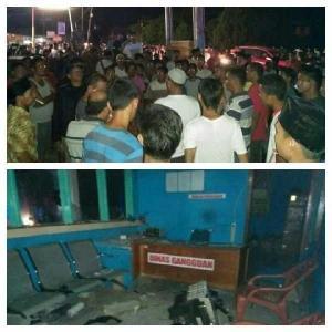 Listrik Padam Malam Ramadan, Ratusan Warga Ujungbatu Rusak Kantor PLN
