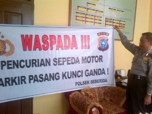 Empat Kecamatan di Inhu Jadi Target Keganasan Bandit Curanmor, Warga Diminta Waspada